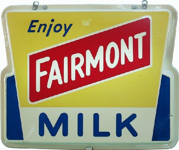 256: Fairmont Milk Plastic Light-up Display Sign,