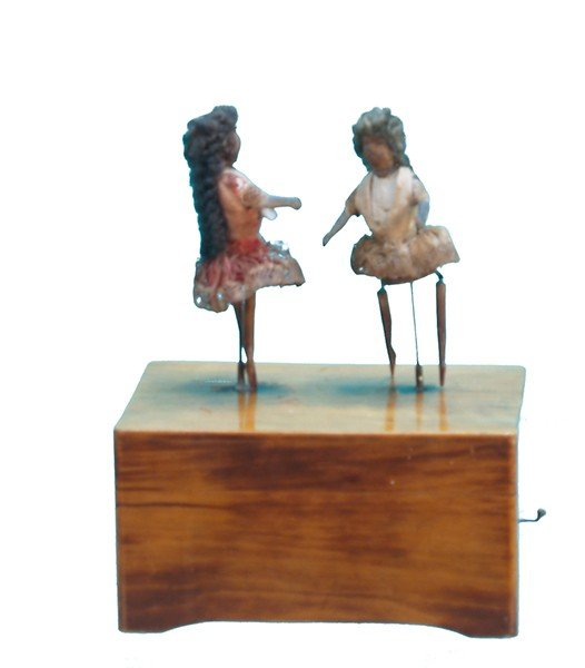 263: Early Ives Style Wooden Music Box,