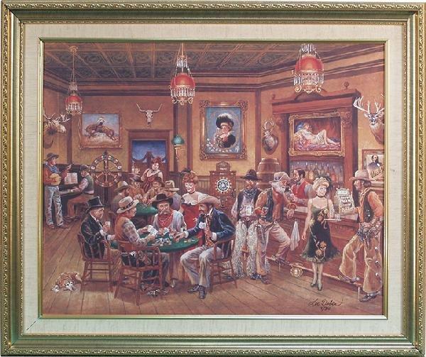 265: Old Saloon Print On Canvas By Lee Dublin 3/310,