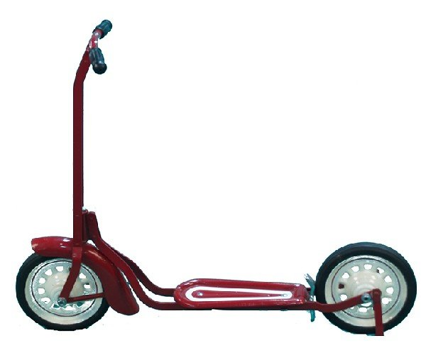 272: Metal Red Child's Scooter - restored