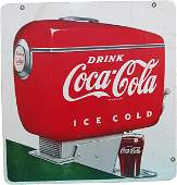 681: Drink Coca Cola Ice Cold Double Sided Porcelain Si