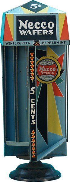 "871: 5 Cent Store Countertop Metal Spin ""Necco Wafers"""
