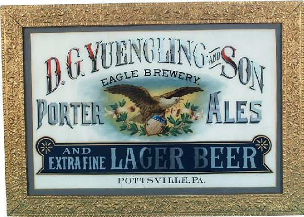 901: D.G. Yuengling & Son Porter Ales Reverse Glass Sig
