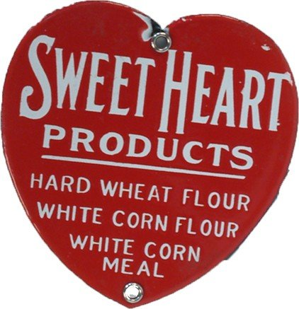3: Sweet Heart Products Heart Shaped Porcelain Sign