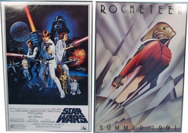 9: Lot Of 2 Movie Posters In Frames: