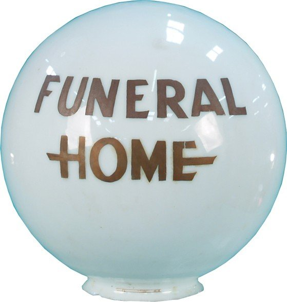 17: Funeral Home Milk Glass Globe