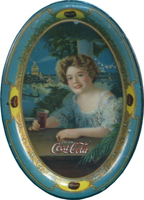 20: Original Coca Cola Tin Tip Tray c1903
