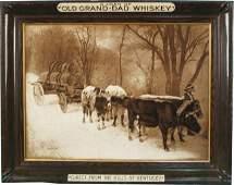 316 Old GrandDad Whiskey SelfFramed Tin Sign