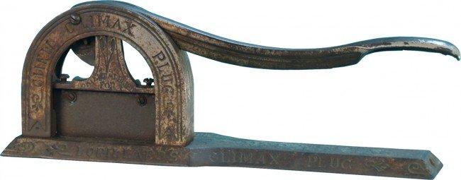 506: Countertop Embossed Cast-Iron Lorillards Climax Pl