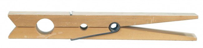 """511: Oversized Wooden Clothespin - 23"""" long"""
