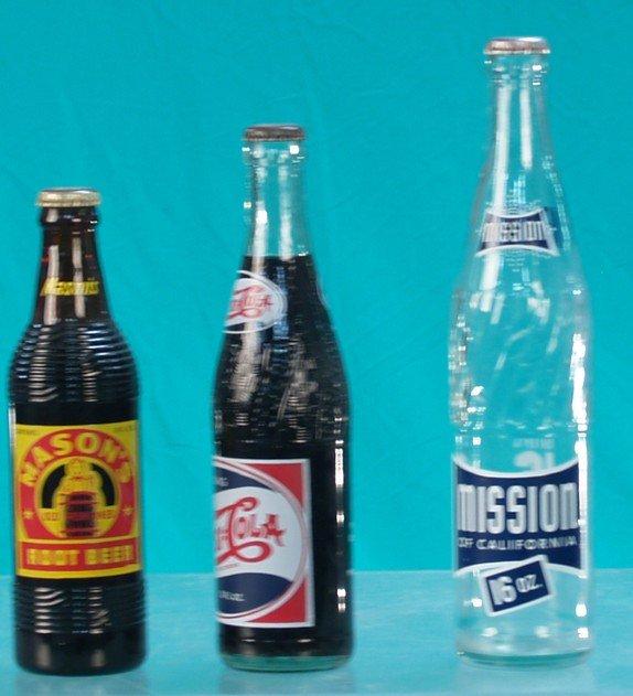 512: Lot Of 3 Early Soda-Pop Bottles: