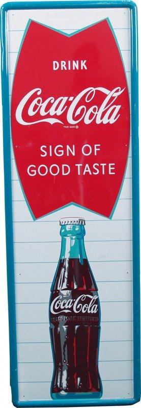 515: Drink Coca Cola Self-Framed Tin Sign