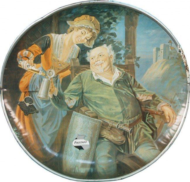 519: Falstaff Beer Tin Charger