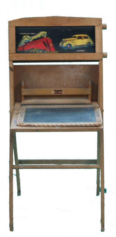 520: Lot Of 2 Early Wood Framed Child's Chalkboards: