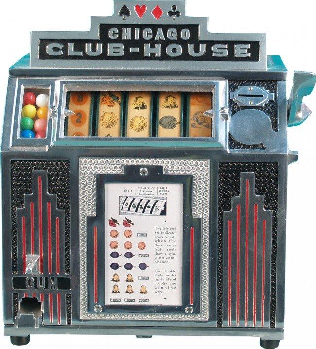 521: Coin-Op Countertop Chicago Club-House 5-Reel Gumba
