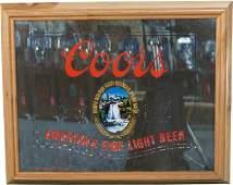 838: Coors America's Fine Light Beer Reverse Glass Ligh