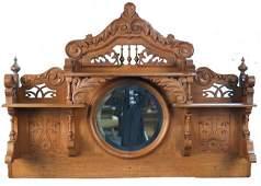 869 Early Oak Decorative Mantel Piece