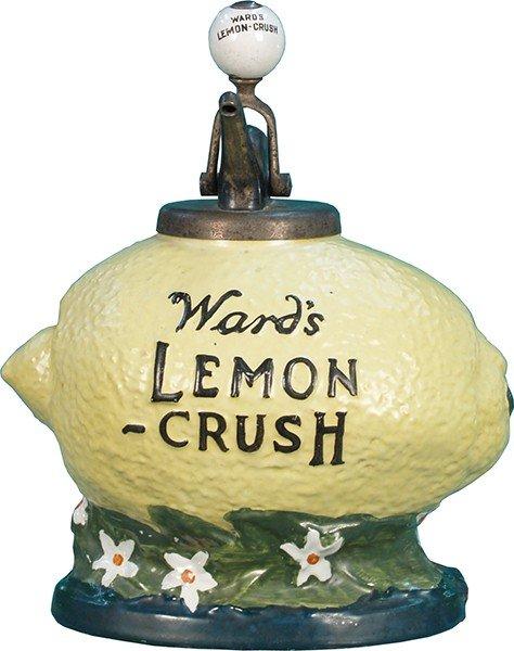 201: Ward's Lemon Crush Countertop Syrup Dispenser