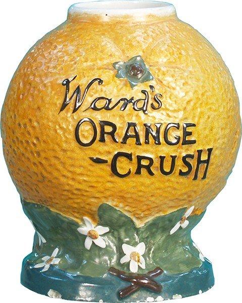 202: Ward's Orange Crush Countertop Syrup Dispenser
