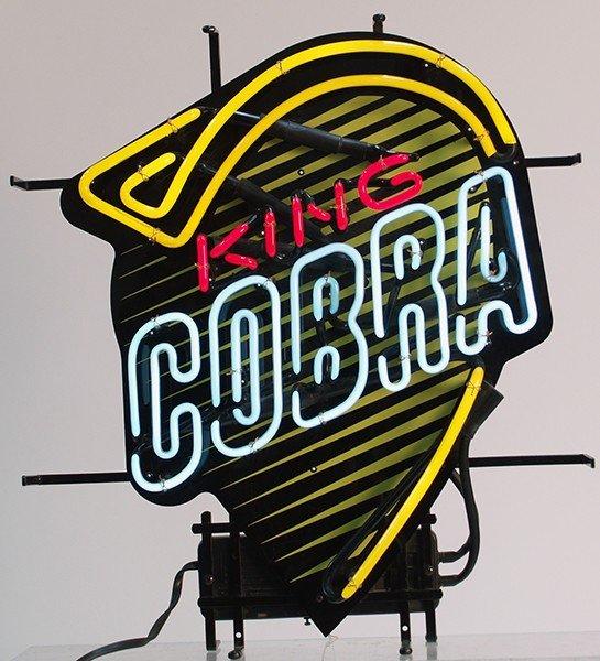 205A: King Cobra Neon Sign