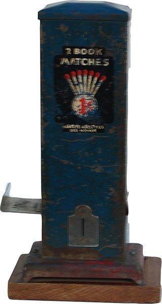 215: 1 Cent Countertop Cast-Iron Match Vending Machine