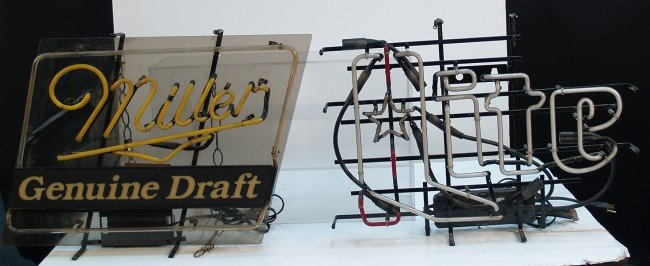 217A: Lot Of 2 Beer Neon Signs: