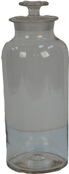 218: Large Apothecary Glass Jar