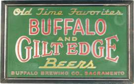 341: Buffalo And Gilt Edge Beers Reverse Glass Light-Up