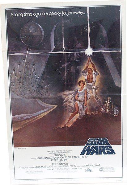 375: Star Wars 1977 Authentic Original Movie Poster