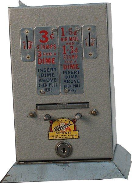 378: Coin-Op Metal Countertop Postage Stamp Vending Mac