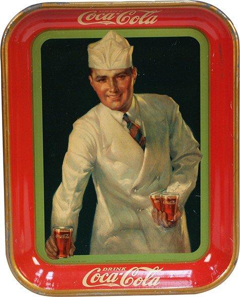 379: Vintage Drink Coca Cola Tin Serving Tray 1927