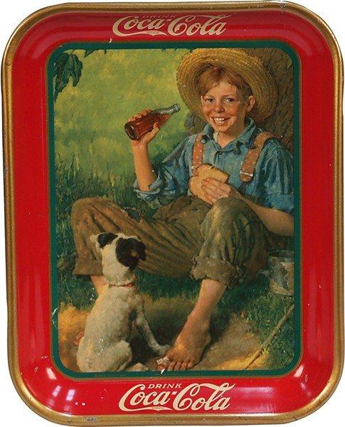 389: Vintage Drink Coca Cola Tin Serving Tray 1931