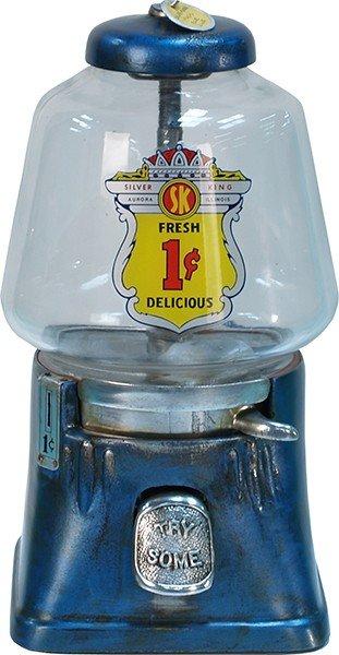 393: 1 Cent Countertop Silver King Bulk Vending Machine
