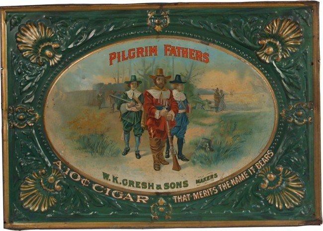 394: Pilgrim Fathers W.K. Gresh & Sons Makers Embossed