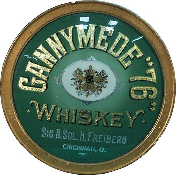 "395: Gannymede """"76"""" Whiskey Reverse Glass Sign"