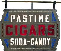 """429: Early Large Metal Outdoor """"""""Pastime Cigars, Soda -"""