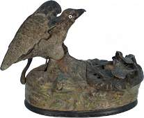 538 Antique Countertop CastIron Eagle  Eagletts Mech