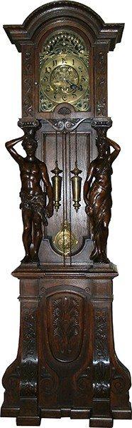 560: Large Antique German Art Nouveau Clock c1890-1900