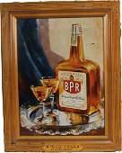 575A BPR Whiskey SelfFramed Tin Sign