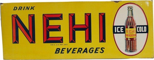 707: Drink NEHI Beverages Embossed Tin Sign