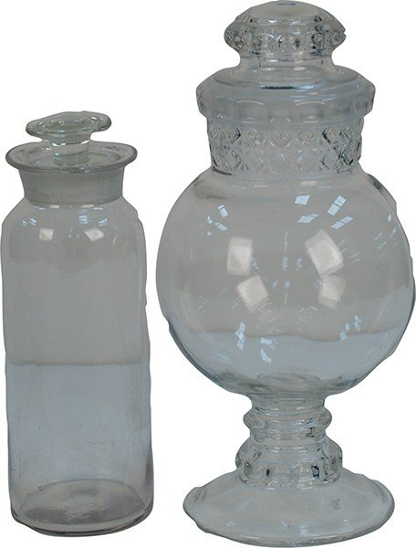 709: Lot Of 2 Glass Items: