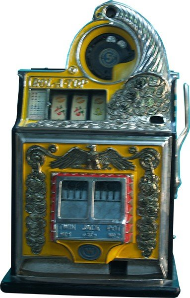 711: 5 Cent Watling Rol-A-Top Twin Jackpot Coin Front S