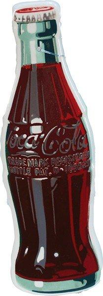 715: Die-Cut Porcelain Coca Cola Bottle Shape Sign