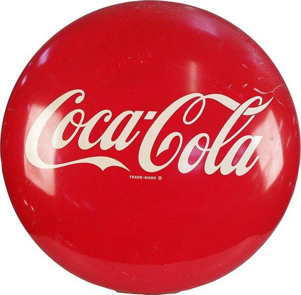 """716: Large Metal Coca Cola Button """"""""A-M11-50"""""""""""