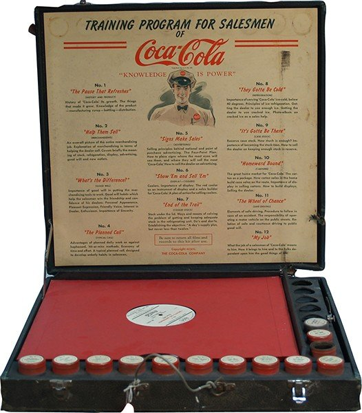 719: Early Coca Cola Sales Training Program Kit c1940's