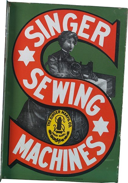 746: Singer Sewing Machine Double Sided Flange Porcelai