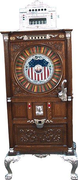 903: Early 5 Cent Mills Dewey Upright Slot Machine