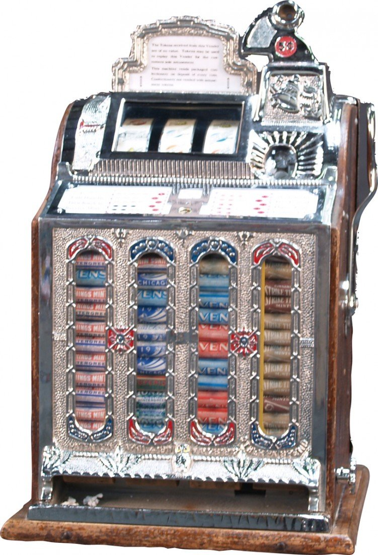 255: 5 Cent Mills Gooseneck F.O.K. Vender Slot Machine