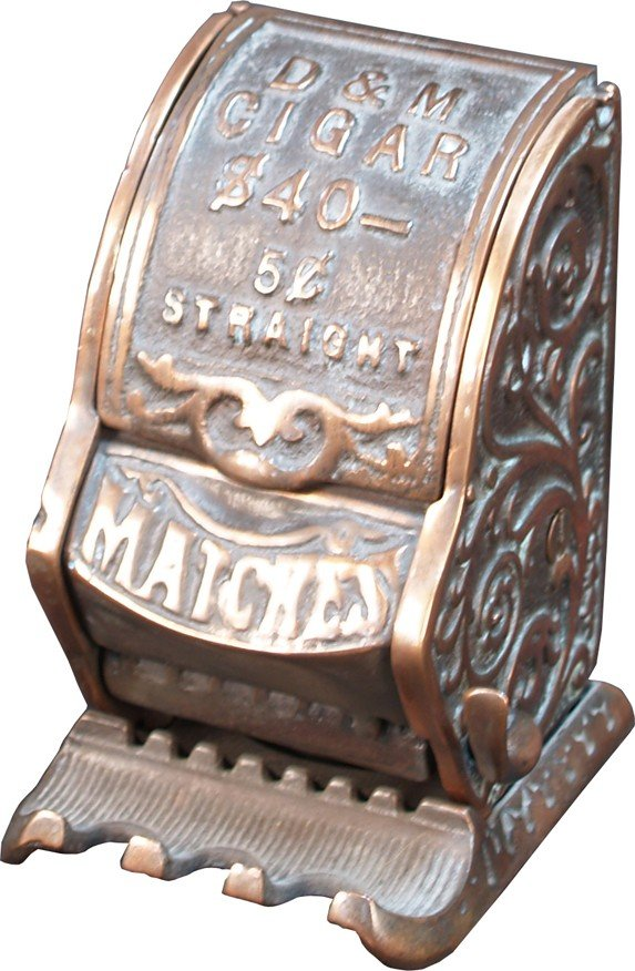 267: Vintage Countertop Or Wall Mount Cast-Iron D&M Cig