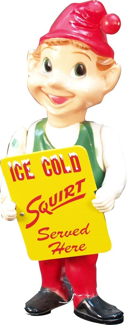 269: Plastic Light-Up Squirt Elf Figural Advertisement